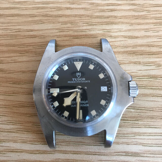 Tudor(チュードル)のまこすけ専用 TUDOR チュードル サブマリーナ ベゼルなし OH済 メンズの時計(腕時計(アナログ))の商品写真