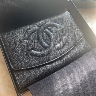 CHANEL - 【CHANEL】【ゴールド金具】シャネル『ココマーク 二つ折り短財布』財布 薄型