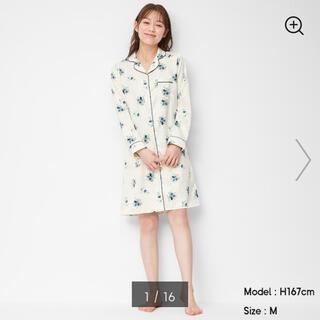 GU - 花柄ワンピースパジャマ