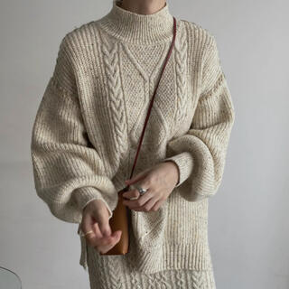 TODAYFUL - willfully hand stitch color nep knit