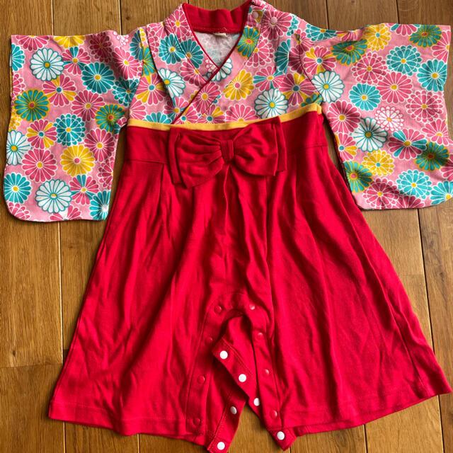 女の子 ベビー袴ロンパース キッズ/ベビー/マタニティのベビー服(~85cm)(ロンパース)の商品写真
