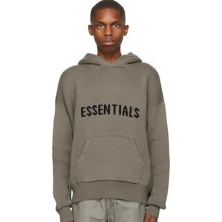 エッセンシャル(Essential)のessentials ニットパーカー M トープ(パーカー)
