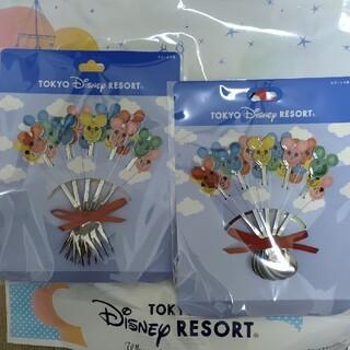 ディズニー(Disney)のディズニー バルーン スプーン フォーク セット(カトラリー/箸)