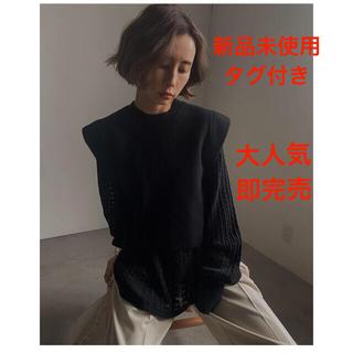 Ameri VINTAGE - アメリ 新作完売 LAYERED OVER SHOULDER KNIT