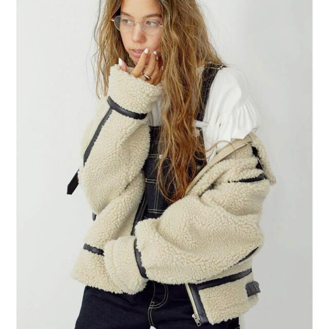 Ungrid(アングリッド)のアングリッド ボアムートン 新品未使用 sサイズ レディースのジャケット/アウター(ムートンコート)の商品写真