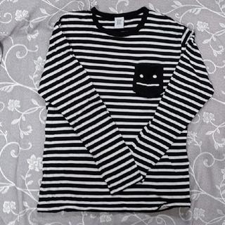 グラニフ(Design Tshirts Store graniph)の男女兼用 ボーダーTシャツ 黒×白(Tシャツ(長袖/七分))