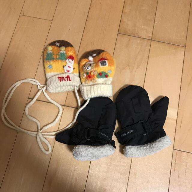 mikihouse(ミキハウス)の手袋二個セット キッズ/ベビー/マタニティのこども用ファッション小物(手袋)の商品写真