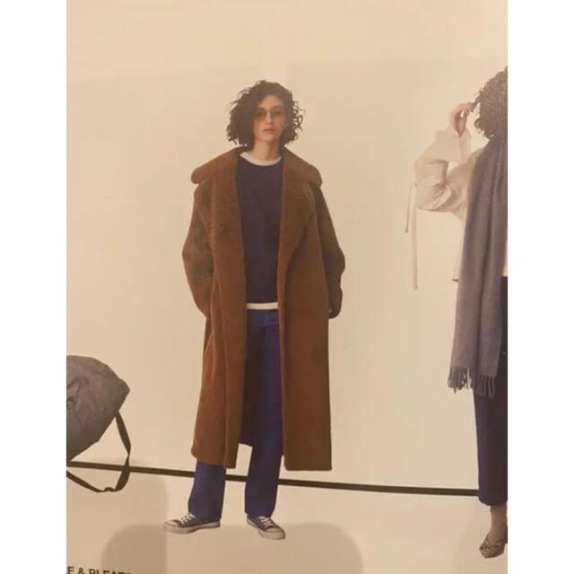 LE CIEL BLEU(ルシェルブルー)のルシェルブルー エコファーコート レディースのジャケット/アウター(毛皮/ファーコート)の商品写真