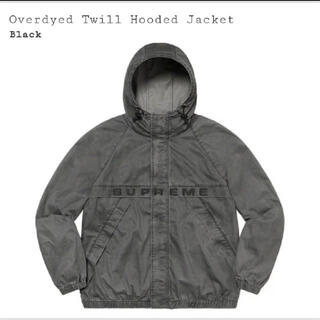 シュプリーム(Supreme)のOverdyed Twill Hooded Jacket 黒 XL(その他)