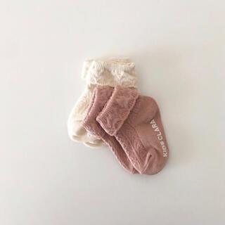 ボンポワン(Bonpoint)の靴下 ベビー ピンク(靴下/タイツ)