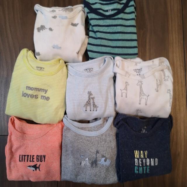 carter's(カーターズ)のcarter's 半袖ロンパース12m 8点セット キッズ/ベビー/マタニティのベビー服(~85cm)(ロンパース)の商品写真
