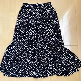 シマムラ(しまむら)のしまむら プチプラのあや レオパードスカート 少々難あり(ロングスカート)