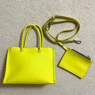 ZARA - 【ZARA】2way ネオンカラー ハンドバッグ