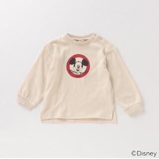 プティマイン(petit main)のプティマイン 【DISNEY】 ミッキーマウスデザイン スリット入りTシャツ(シャツ/カットソー)