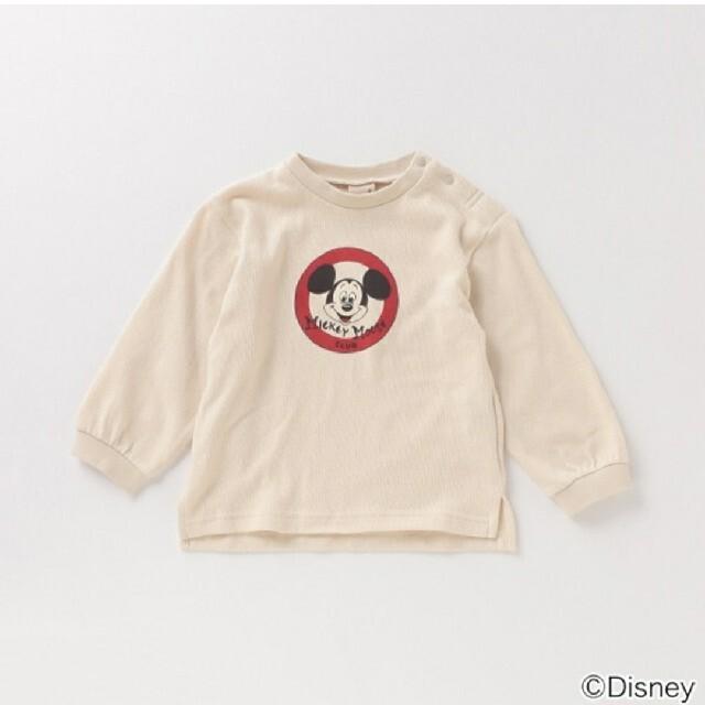 petit main(プティマイン)のプティマイン 【DISNEY】 ミッキーマウスデザイン スリット入りTシャツ キッズ/ベビー/マタニティのキッズ服男の子用(90cm~)(Tシャツ/カットソー)の商品写真