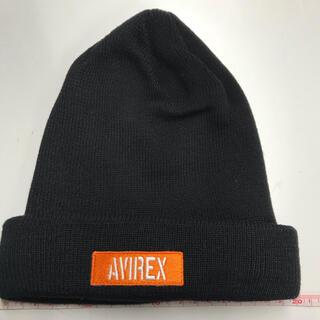 アヴィレックス(AVIREX)のAVIREX アヴィレックス ニット帽 ビーニー ブラック(ニット帽/ビーニー)