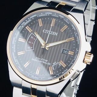 CITIZEN - 【新品即納】シチズン 超高性能 メンズ腕時計 エコドライブ 電波時計 42mm