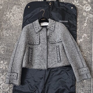 VALENTINO - VALENTINO ツイードスタッズジャケット 美品 4