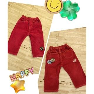 ミニケー(MINI-K)のミニケー コーデュロイ 赤 パンツ ズボン ウエストゴム 90(パンツ/スパッツ)