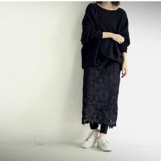 antiqua - アンティカ タグ無し未使用 花柄レーススカート