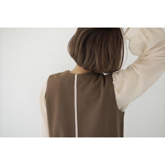 TODAYFUL(トゥデイフル)のI am official leather line vest レディースのワンピース(ロングワンピース/マキシワンピース)の商品写真
