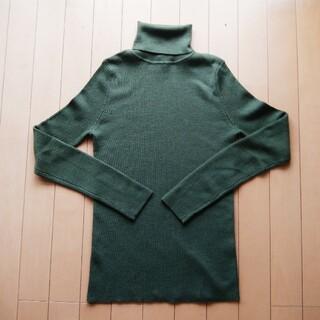 UNIQLO - ユニクロ エクストラファインメリノリブタートルネックセーター(長袖)