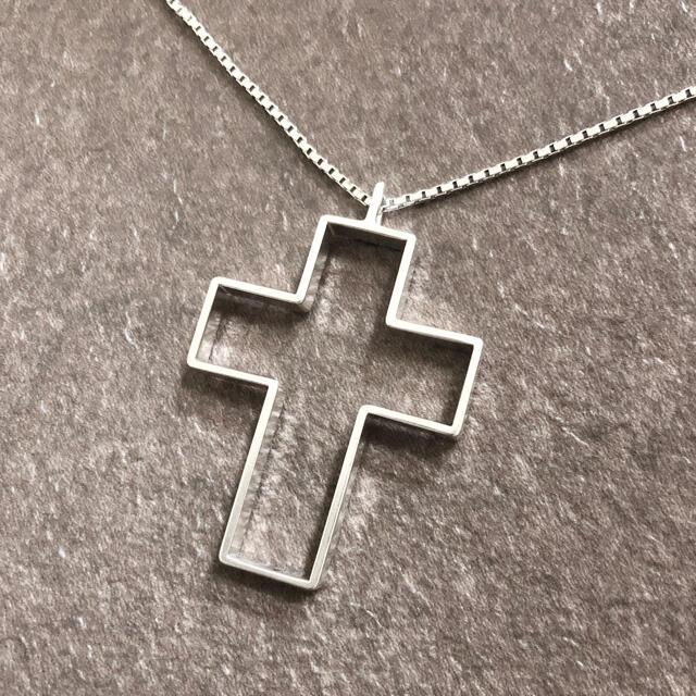 Gucci(グッチ)の専用 グッチ ネックレス シルバー オープン クロス 十字架 SV925 銀4 メンズのアクセサリー(ネックレス)の商品写真