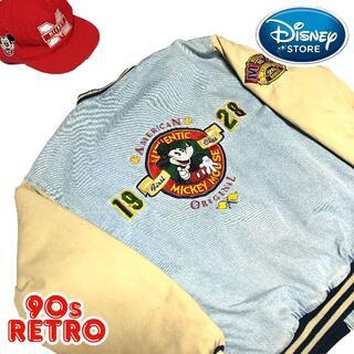 ディズニー(Disney)の90s ディズニーストア デニムスタジャン M 刺繍 デカロゴ ゆるだぼ (スタジャン)
