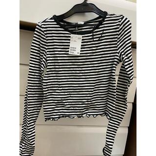 エイチアンドエム(H&M)の新品未使用 H&M ボーダーTシャツ(Tシャツ(長袖/七分))
