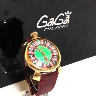 ガガミラノ(GaGa MILANO)の「正規品」GaGa.MILANO(マネアーレ48)ラスベガス/メンズ腕時計(腕時計(アナログ))