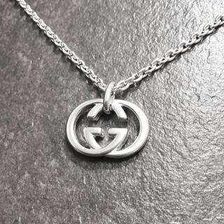 グッチ(Gucci)の正規品 グッチ ネックレス シルバー SV925 GG インターロッキング 銀2(ネックレス)