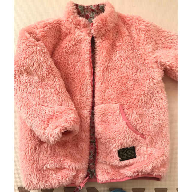mikihouse(ミキハウス)のミキハウスピクニック リバーシブルアウター 110cm キッズ/ベビー/マタニティのキッズ服女の子用(90cm~)(ジャケット/上着)の商品写真
