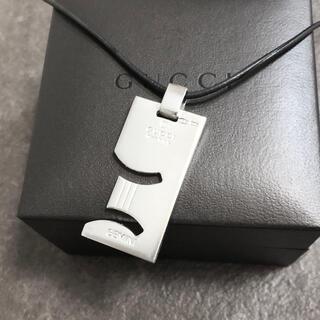 グッチ(Gucci)の正規品 グッチ ネックレス ホロスコープ 双子座 シルバー プレート レザー 革(ネックレス)