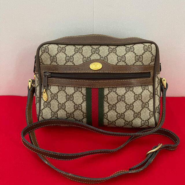Gucci(グッチ)のGUCCI オールドグッチ シェリーライン ショルダーバッグ 茶 レディースのバッグ(ショルダーバッグ)の商品写真