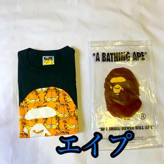 A BATHING APE - BAPE X GARFIELD  TEE