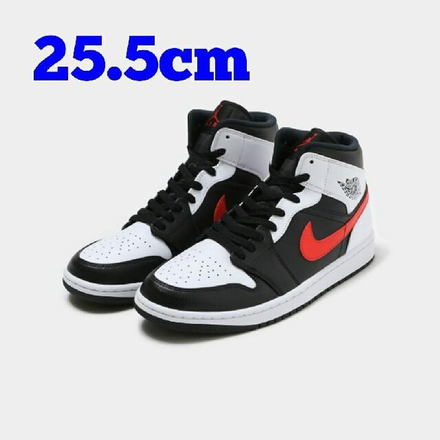 NIKE(ナイキ)の25.5cm NIKE AIR JORDAN 1 MID メンズの靴/シューズ(スニーカー)の商品写真