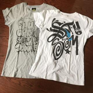 ステューシー(STUSSY)のstussy woman Tシャツ Sサイズ 2枚中古 ステューシー(Tシャツ(半袖/袖なし))