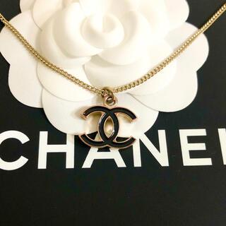 シャネル(CHANEL)の正規品 シャネル ネックレス ゴールド ココマーク ブラック 両面 チェーン 金(ネックレス)