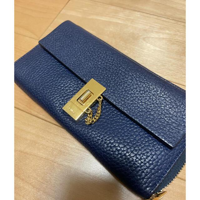 Chloe(クロエ)のクロエ 長財布 ドリュー 美品 ブルー ネイビー レディースのファッション小物(財布)の商品写真