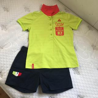 le coq sportif - ルコック レディース ゴルフシャツ M フィドラ ネイビーパンツSセット