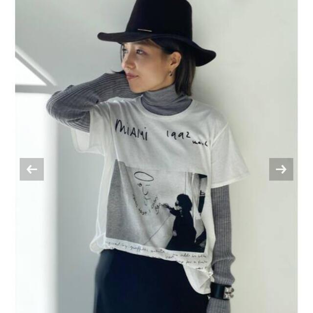 L'Appartement DEUXIEME CLASSE(アパルトモンドゥーズィエムクラス)のR13/アールサーティーン U2 Miami Boy Tee アパルトモン AP レディースのトップス(Tシャツ(半袖/袖なし))の商品写真