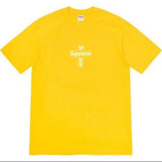 シュプリーム(Supreme)のsupreme Cross Box Logo Tee Yellow(Tシャツ/カットソー(半袖/袖なし))
