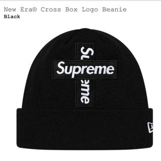 Supreme - supreme クロスボックスロゴビーニー ブラック