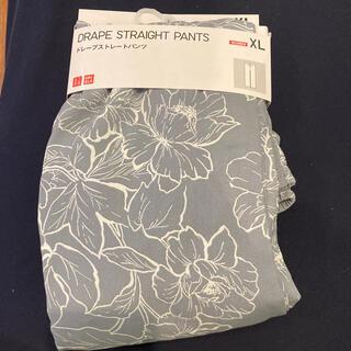 UNIQLO - 新品定価より安いユニクロドレープストレートパンツ花柄女性XLレディースwoman