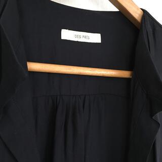 デプレ(DES PRES)のデプレ ノースリーブロングシャツ ブラック(シャツ/ブラウス(半袖/袖なし))