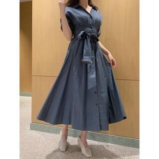 snidel - バブルスリーブ高ウエストは、スリムなロングスカートを着用します