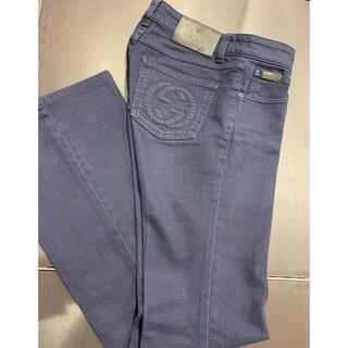Gucci - 未使用 定価9万円 グッチ GGロゴ フレア パンツ デニム レディース