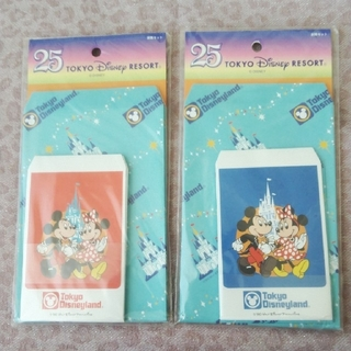 Disney - TDL 25周年 復刻デザイン 封筒セット