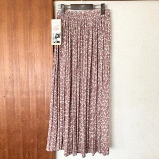シマムラ(しまむら)の☆新品☆ プチプラのあや 小花柄 プリーツスカート(ロングスカート)
