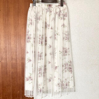 シマムラ(しまむら)の☆新品☆ しまむら 花柄チュールスカート(ロングスカート)